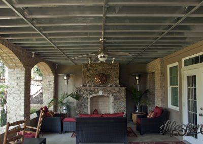 Lifespan Steel Framed Deck with weatherproof living space underneath.