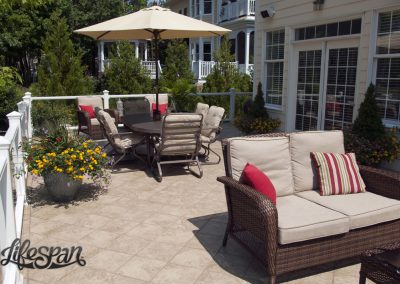 Lifespan Steel Framed Deck with concrete top and outdoor tile.