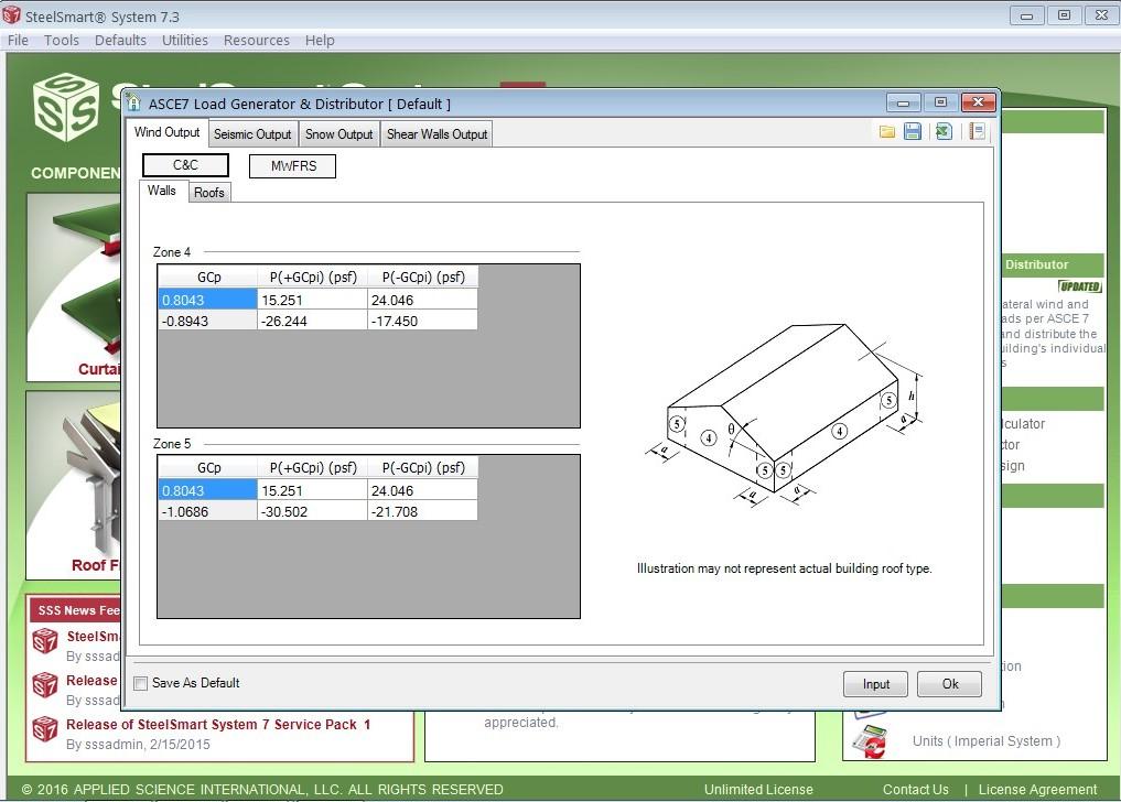 Software wind pressure output